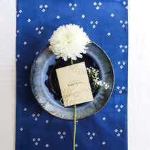 Load image into Gallery viewer, Blue Bandhni Mashru Silk Table Runner