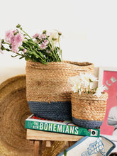 Load image into Gallery viewer, Blue Jute Planter cum Storage Basket (S,M,L)