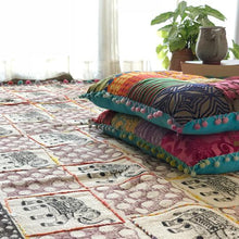 Load image into Gallery viewer, The Royal Indian Elephant Embroidered Cotton Rug