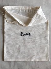 Load image into Gallery viewer, Cotton Reusable Embroidered Grocery Bags