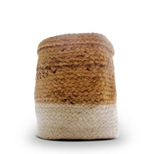 Load image into Gallery viewer, Ivory White Jute Planter Cum Storage Basket (S,M,L)
