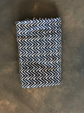 Load image into Gallery viewer, Indigo Chevron Semi Sheer Curtain