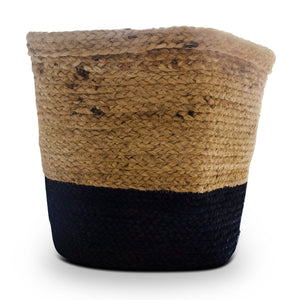 Navy Blue Jute Planter Cum Storage Basket (S,M,L)