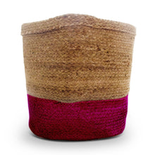 Load image into Gallery viewer, Pink Jute Planter Cum Storage Basket (S,M,L)