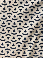 Load image into Gallery viewer, Indigo Pizza Print Fabric