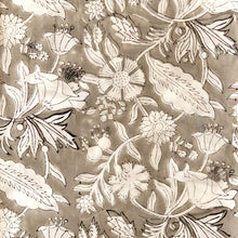 Load image into Gallery viewer, Grey Jaal Print Floral Cotton Fabric