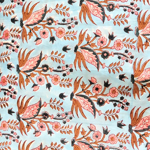 Blue Jaipuri Floral Buti Cotton Fabric 2m