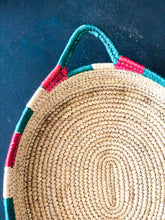Load image into Gallery viewer, Multicolor Sabai Handwoven Grass Tray with Handle