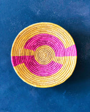 Load image into Gallery viewer, Pink & Yellow Sabai Handwoven Grass Basket