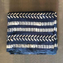 Load image into Gallery viewer, Indigo Dabu Abstract Arrow Natural Fabric