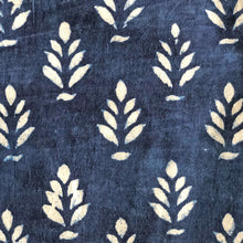 Load image into Gallery viewer, Indigo Dabu Mughal Floral Print Fabric