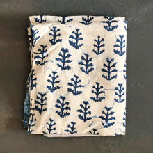 Load image into Gallery viewer, Indigo Dabu White Twig Print Fabric