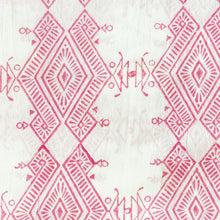 Load image into Gallery viewer, Pink Ikat Blockprint Cotton Fabric