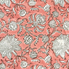Load image into Gallery viewer, Pink Jaal Blockprint Cotton Fabric