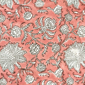 Pink Jaal Blockprint Cotton Fabric