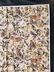 Animal Safari Print Handmade Cotton Rug