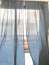 Load image into Gallery viewer, Indigo Tear Drop Semi Sheer Curtain