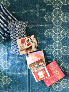 Indigo Dandiya Lights Handmade Cotton Rug