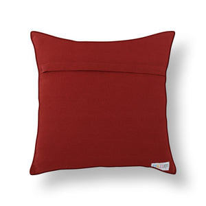 Red Patola Print Mashru Silk Cushion Cover