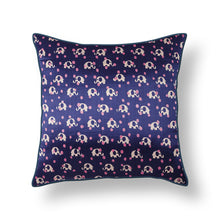 Load image into Gallery viewer, Purple Elephant Blockprint Mashru Silk Cushion Cover
