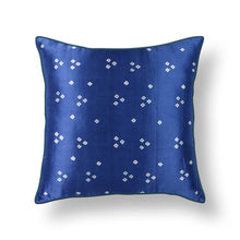Load image into Gallery viewer, Blue Bandhni Mashru Silk Cushion Cover