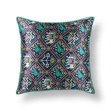 Load image into Gallery viewer, Green Patola Print Mashru Silk Cushion Cover
