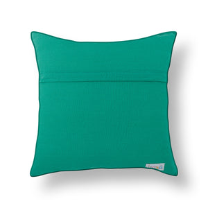 Green Patola Print Mashru Silk Cushion Cover
