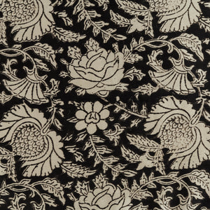 Black Jaal Print Mashru Silk Table Runner