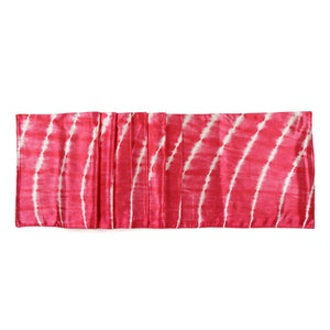 Pink Tie Dye Mashru Silk Table Runner