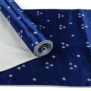 Blue Bandhni Mashru Silk Table Runner