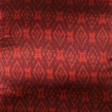 Load image into Gallery viewer, Red Ikat Blockprint Mashru Silk Cushion Cover