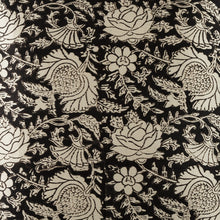 Load image into Gallery viewer, Black Jaal Print Blockprint Mashru Silk Cushion Cover