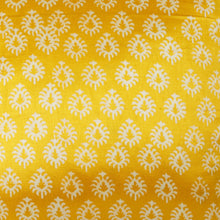 Load image into Gallery viewer, Yellow Floral Blockprint Mashru Silk Cushion Cover