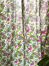Load image into Gallery viewer, Floral Paradise Multicolor Blockprint Sheer Curtain