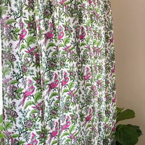 floral curtain