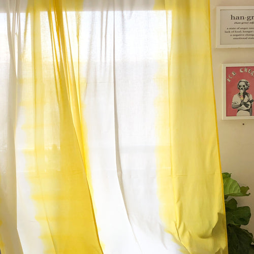 yellow ombre curtain