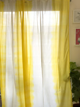 Load image into Gallery viewer, Yellow Ombre Dip Dye Sheer Curtain