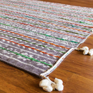 Caravan of Life Embroidered Cotton Rug
