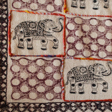 The Royal Indian Elephant Embroidered Cotton Rug