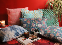 Load image into Gallery viewer, Blue Pomegranate Cushion Cover