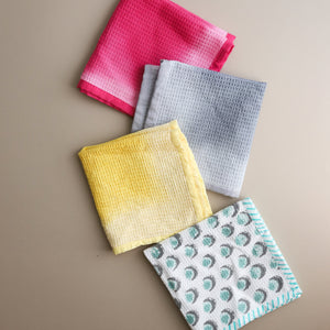 Set of 3 Ombre Multicolor Dish Towels