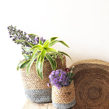 Load image into Gallery viewer, Grey Jute Planter Cum Storage Basket (S,M,L)