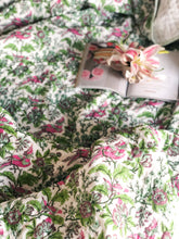 Load image into Gallery viewer, Floral Paradise Handmade Kantha Bedcover/Dohar