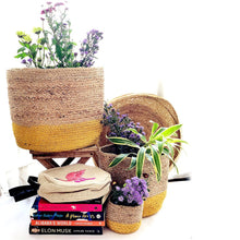 Load image into Gallery viewer, yellow jute planter