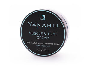 Yanahli Muscle & Joint Cream with Spearmint & 200 mg Full Spectrum Hemp Extract