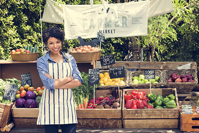 Farmers Market Produce with Fresh Nutritional Impact