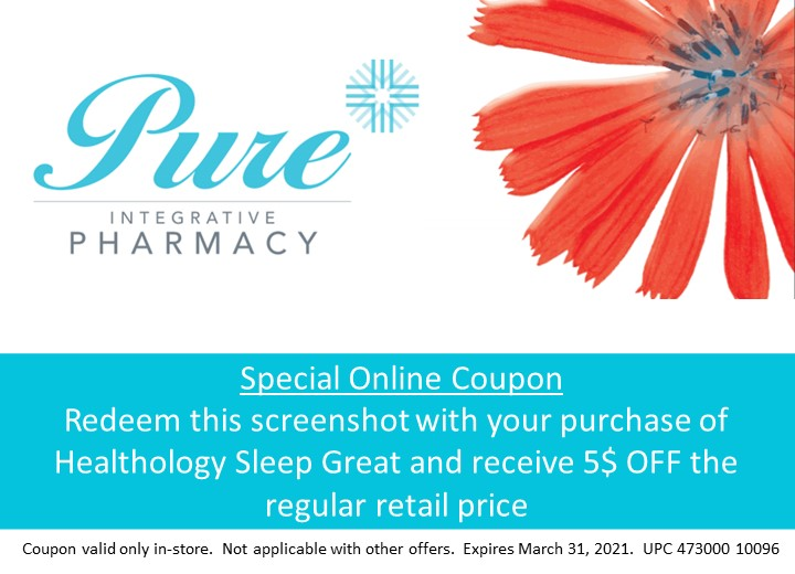 Healthology Sleep Great 5$ off coupon for in-store only (expires march 31 2021)