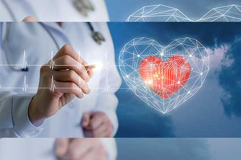 doctor with human heart