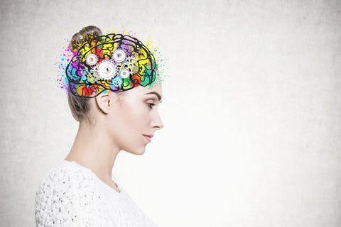 woman with thoughts on her mind