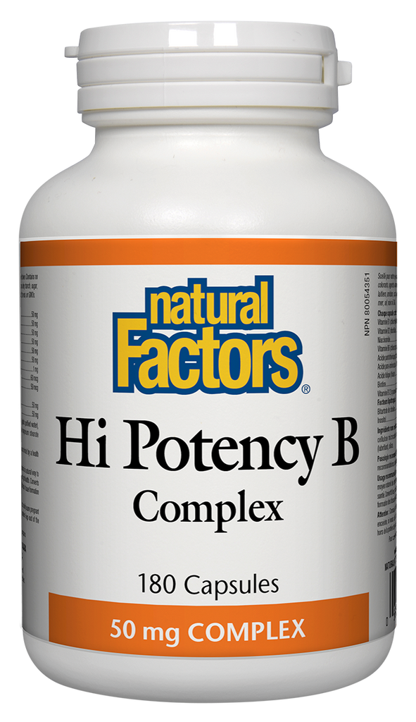 NATURAL FACTORS HI POTENCY B COMPLEX 50MG 180CAPS